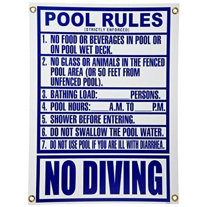 Pentair New Pentair R234800 Florida Pool Rules Pool Sign at Sears.com