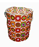 Pindia Fancy Foldable Random Color Fabric Laundry Basket