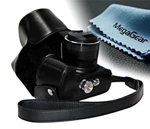 """MegaGear """"Ever Ready"""" Protective Leather Camera Case, Bag for Canon PowerShot SX50 HS (Black)"""
