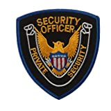 Security Stock Shoulder Emblems - Gold Blue Black Officer W01S29A by First Class Uniforms
