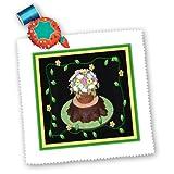 qs_13332_3 Susan Brown Designs Dessert Themes - Flower Pot Trunk Cake - Quilt Squares - 8x8 inch quilt square