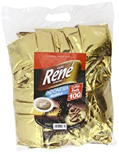 Order Café Rene Crème Indonesia Coffee Pads (Pack of 1, Total 100 Coffee Pads) - GroceryCentre