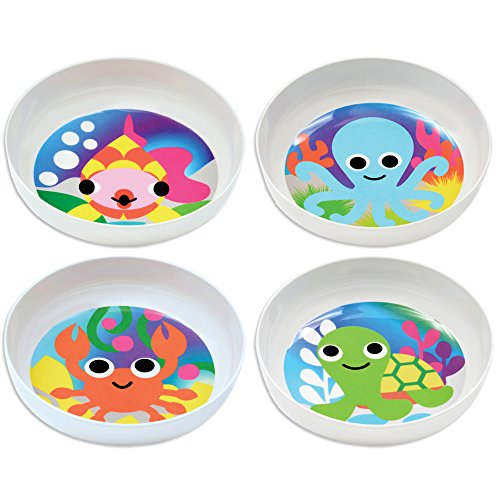 French Bull - BPA Free Kids Bowls - Melamine Kids Bowl Set - Kids Dinnerware - Ocean, Set of 4