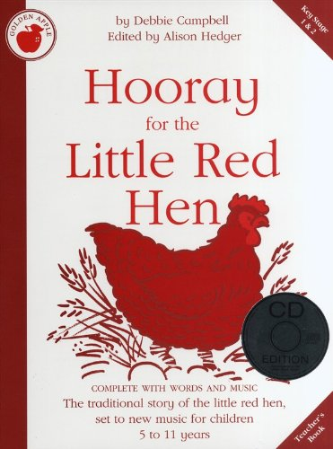 debbie-campbell-hooray-for-the-little-red-hen-teachers-book-cd-partitions-pour-piano-chant-et-guitar