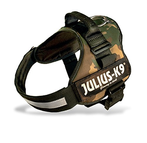 Trixie Julius-K9 Powerharness, Taglia 2, L - XL, Petto di 71 - 96 cm, camuffamento