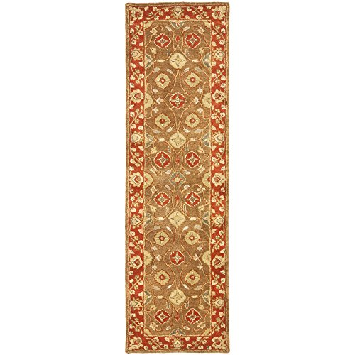 Safavieh Heritage Collection HG963A Handmade Beige and Rust Wool Runner, 2 feet 3 inches by 20 feet (2'3
