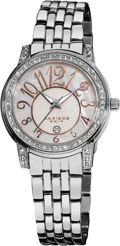 akribos-xxiv-ak586ss-lady-diamond-reloj-de-cuarzo-de-acero-inoxidable-de-brillo-nacarado-de-la-mujer