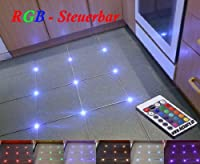 12x Fliesen RGB LED Steuerbar Fuge 5mm L...