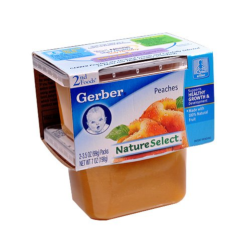 Gerber 2nd Foods NatureSelect Baby Food, Peaches, 2 ea