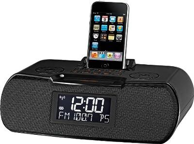Sangean AM/FM-RDS Atomic Clock Radio with iPod Dock by Sangean