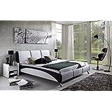 SAM® Design Polsterbett Fun, 200 x 220 cm in weiß/schwarz, komfortable Rückenlehne inklusive Soundsystem, modernes...