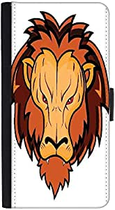 Snoogg Lion Mascotdesigner Protective Flip Case Cover For Htc Desire 816