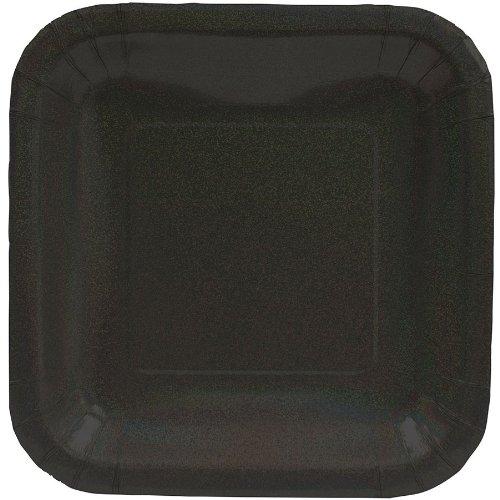 Black Glitz Banquet Plates