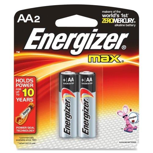 Energizer Alkaline Battery Size Aa Blister Pack 2