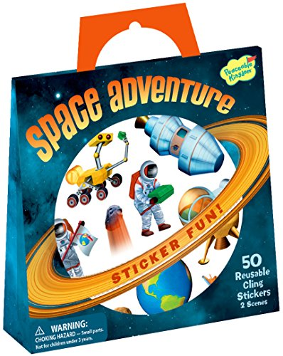 Peaceable Kingdom Sticker Fun! Space Adventure Reusable Sticker Tote