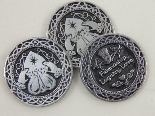 Irish Token Claddagh 3 Coins/St Patrick's Day/Celtic Gift
