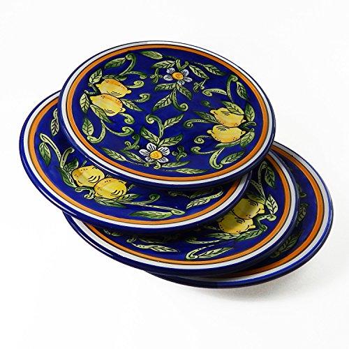 Le Souk Ceramique Dinner Plates, Set Of 4, Citronique Design