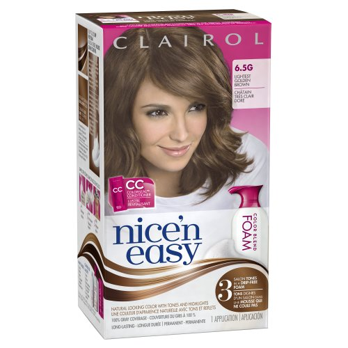 Clairol Nice 'N Easy Foam Hair Color 6.5G Lightest Golden Brown 1 Kit (Packaging May Vary) front-941019