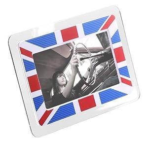 Kitvision Digitaler Bilderrahmen Display 7 Zoll (17,7 cm) mit eingebautem Stand und Kartenslot für SD/MMC/MS Speicherkarten, UK-Netzstecker - Union Jack