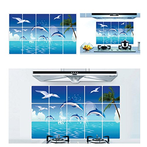 Wall sticker saingace home decor dolphins animal removable for Ash wallpaper mural