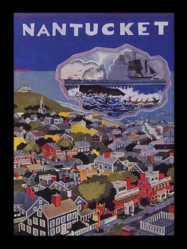 NANTUCKET ISLAND VACATION TRAVEL TOURISM SMALL VINTAGE POSTER REPRO