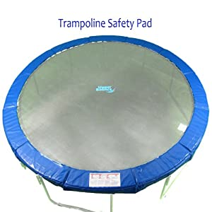 Upper Bounce Super Trampoline Safety Pad (Spring Cover) Fits for 12-Feet Round 10-Inch Wide Trampoline Frames, Blue