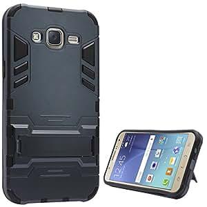 DMG Sturdy Hybrid Kick Stand Armour Case for Samsung Galaxy J7 (Gun Metal)