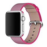 2016 Newest Apple Watch Band, Arbor Home MXY Fine Woven Nylon Strap Replacement Wrist Band Classic Bracelet Strap Bands for Apple iWatch 2016 (42MM-Pink)