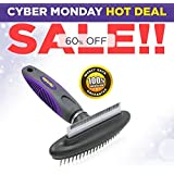 Best Quality Pet Comb and Deshedding Tool By Hertzko - 2 in 1 Great Tool - Gently Removes Loose Undercoat, Mats and Tangled Hair- 100% Satisfaction and Money Back Guarantee!