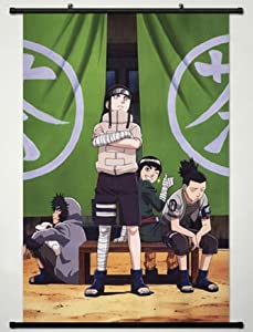 Home Decor Anime Naruto Cosplay Wall Scroll Poster Hyuuga Neji & Rock Lee & Nara Shikamaru & Inuzuka Kiba 23.6 X 35.4 Inches- A432