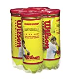 Wilson Championship Extra Duty Tennis Ball (4-Pack), Yellow