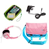 Ultimate Addons UK Girls Starter Bag Bundle for LeapFrog LeapPad 2, including bag, mains adapter, headphones and screen protectors