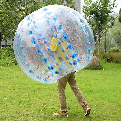[1 PC 1.5M Inflatable Bumper Ball Body Zorbing Ball Zorb Bubble Soccer/Football] (Bouncy Ball Costume)