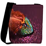 Snoogg peacock feather drops Womens Carry Around Cross Body Tote Handbag Sling Bags