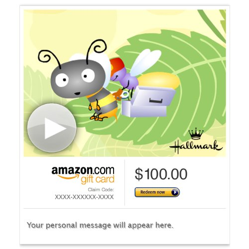 Amazon Gift Card - E-Mail - Bee Well (Animated) [Hallmark]