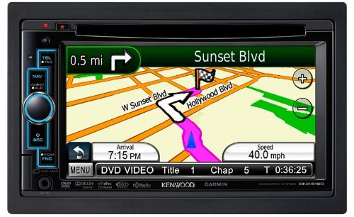 "Kenwood DNX5160 6.1"" In-Dash Double-DIN Navigation DVD Receiver"