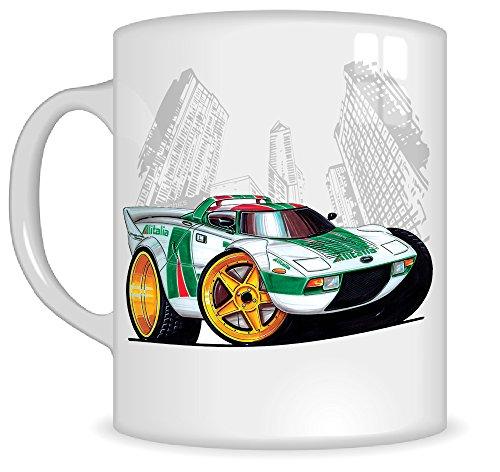 koolart-gifts-k096-mg-cartoon-of-lancia-stratos-rally-caricature-white-green-lancia-mug-gift-for-men