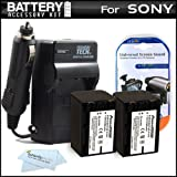 2PK Replacement NP-FV70 Battery And