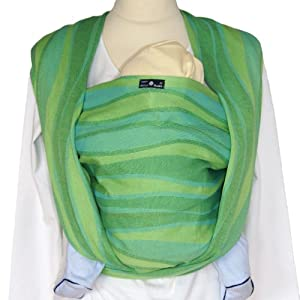 Didymos Baby Carrier Organic Wrap Sling, Waves Lime, Size 7