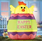 Collections Etc - Inflatable Happy Easter Egg Yard Decoration