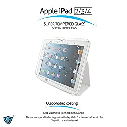 MoArmouz® - Super Tempered Glass Screen Protector for Apple iPad 2, 3 and 4 - Anti Burst Tempered Glass Screen Guard Protector - Shatter Proof Screen Guard Protector / HD /9H Hardness 3D Touch Compatible / Mobile Accessories / Screen Protectors