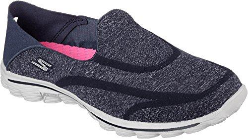 Skechers Women's GOwalk 2 Super Sock Defy Slip On,Navy/Gray,US 10 M (Skechers Go Walk Super Sock compare prices)