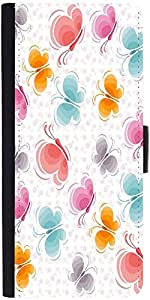Snoogg Butterfly Pattern 2760 Designer Protective Phone Flip Case Cover For Vivo V1