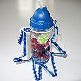 Spiderman School Lunch Bag Box Straw Plastic Drink Bottle Flask Boy Children Toy