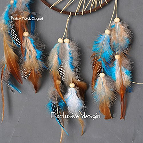 Dremisland Indian Double-circle Dream catcher Wind Chimes Feather Pendant Dream Catcher Gift