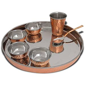 Amazon.com: Dinnerware Set Servics for 2, Traditional Thalis for ...
