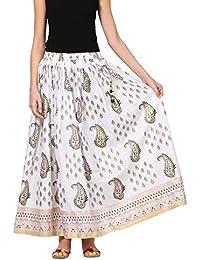 Saadgi Rajasthani Hand Block Printed Handcrafted Ethnic Lehnga Skirt For Women/Girls