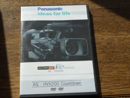 Panasonic AG - HVX200 (v3.0) 2 Dvd Set. Disc 1 - HVX200 Countdown, WMV-9 HD files, Camera Manual, Tour, Brochure, P2 White Paper, TV by IT, Tape to IT, SD to HD. Disc 2 - P2 HD Editing and Viewer, HD Logger Demo. (Panasonic Dvc Pro compare prices)