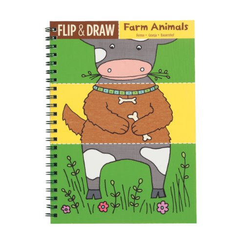 Mudpuppy Farm Animals Flip and Draw