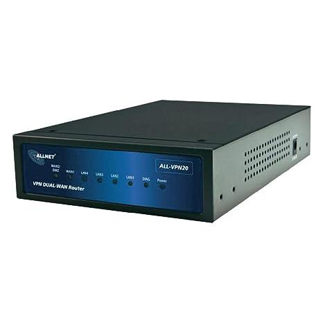 Allnet ALL-VPN20 Routeur VPN Double WAN Firewall avec processeur MIPS64, 2 connections WAN et 4 connections LAN